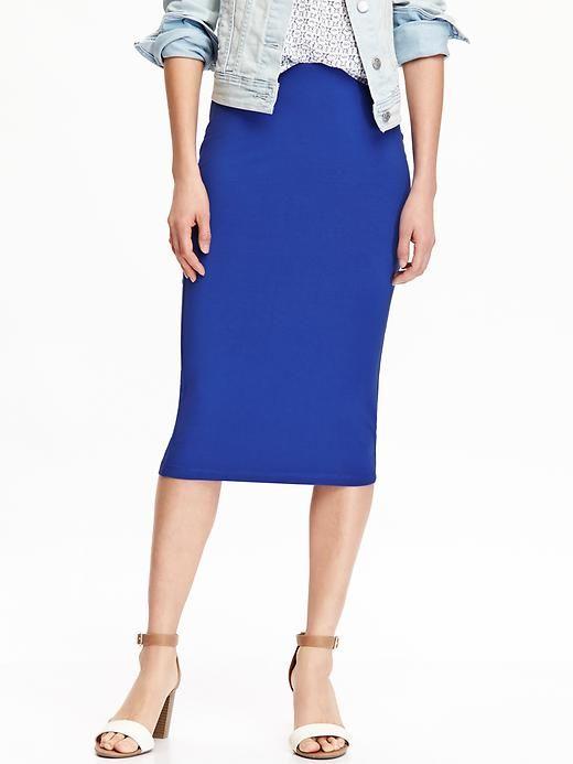 55530988da Jersey Pencil Midi Skirt for Women | Fashion fun | Skirts, Old navy ...