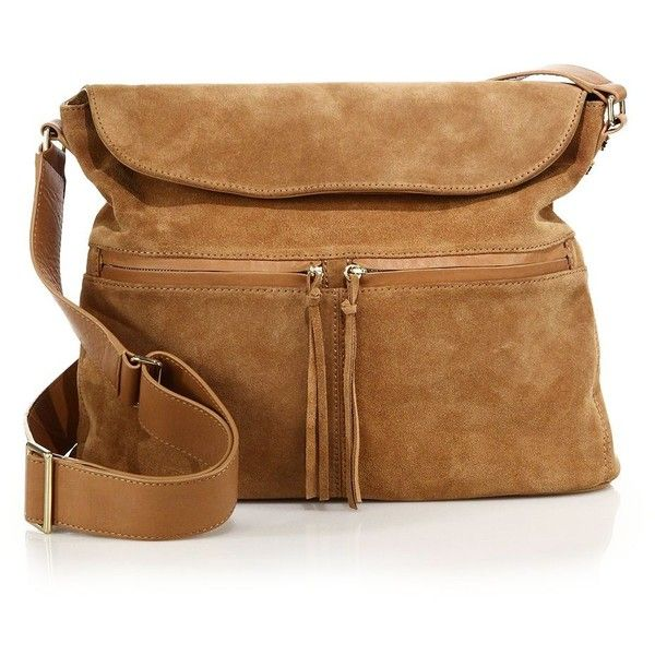 eb7a72eae6c3 Elizabeth and James James Suede Crossbody Hobo Bag (4 690 SEK) ❤ liked on  Polyvore featuring bags