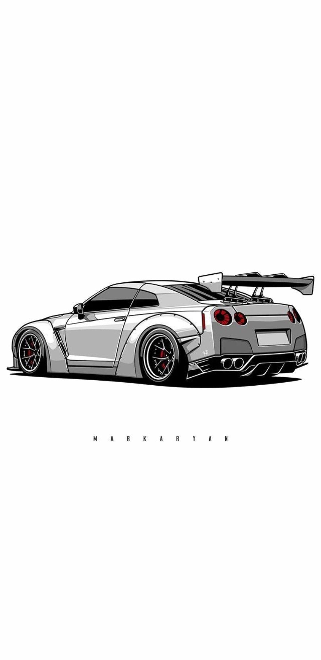 Collection of drawings and paintings wallpaper in 4k, 5k and mobile resolutions. Nissan Gt R Drawing Car Wallpapers Car Drawings Art Cars
