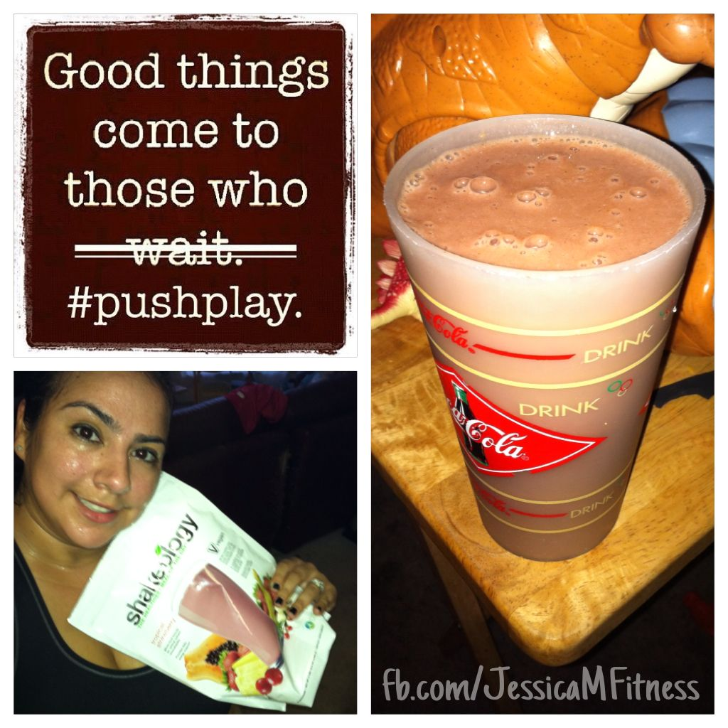I feel prettiest when I'm covered in sweat :)  My body was craving that workout! Just finished an awesome cardio sweat-fest with TurboFire.  Workout complete; now time for dinner: Tropical strawberry Shakeology with some banana, peach and almond milk blended together. Yummers <3