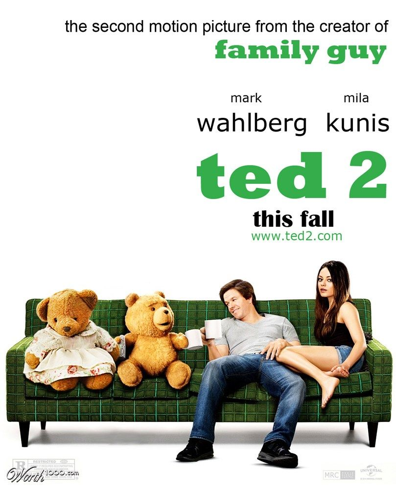 ted 2 Worth1000 Contests Ted movie, Ted, Movies