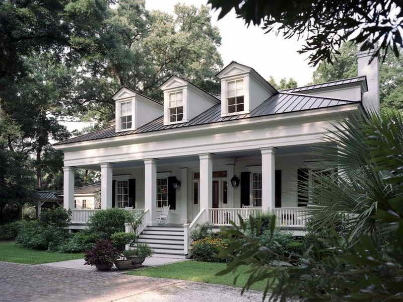 Country creole buildings related images of southern low for Louisiana house plans