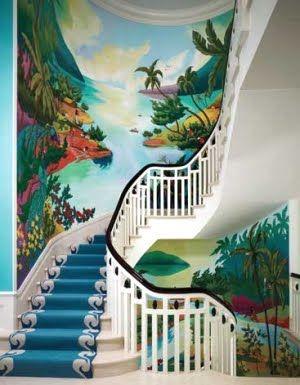 Tropical Wall Murals tropical wall murals | palm tree decor: a tropical wall mural