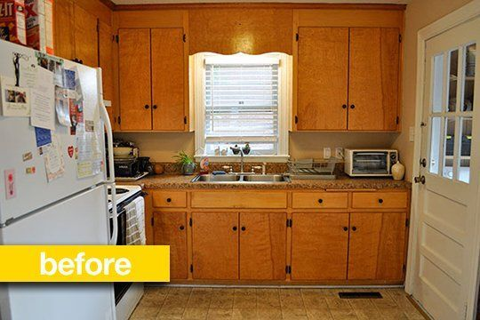 Kitchen Before  After A Super Budget Kitchen Makeover For $500