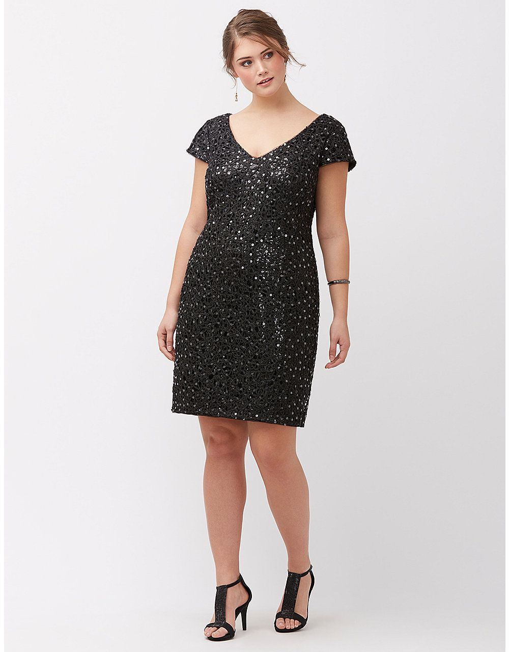 09acb84977e Plus Size Dresses   Skirts for Women Size. Sequin lace shift dress by Adrianna  Papell