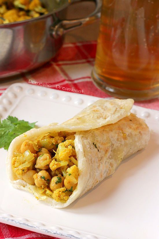 Curried Chickpea And Cauliflower Wraps Recipe Greens Beans