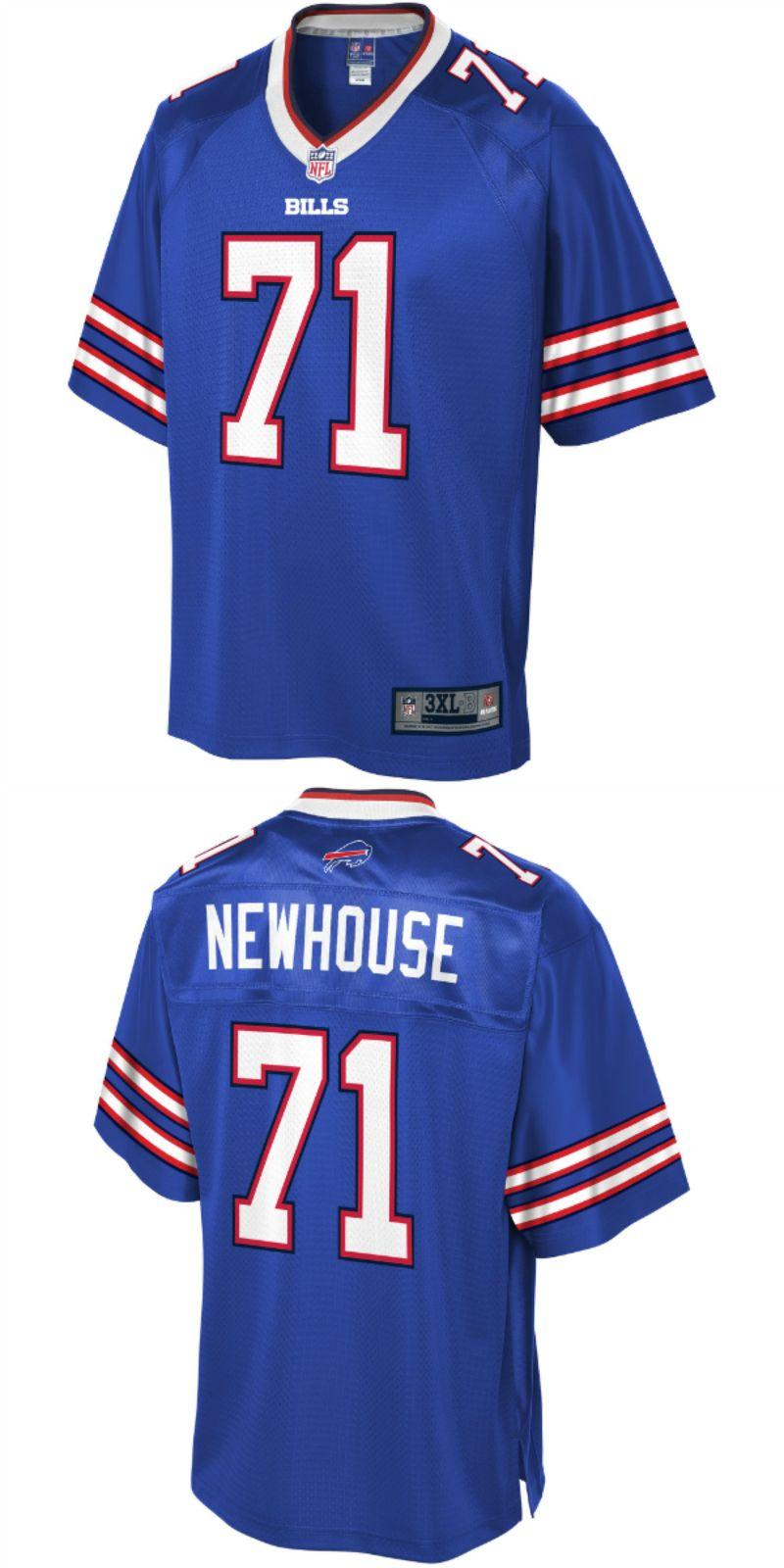 Buffalo Bills T-Shirt Men/'s Nike NFL Team Stripe Big Logo Tee Royal