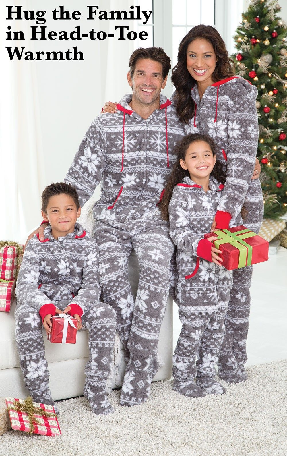 HoodieFootie™ Matching Family Pajamas Nordic Fleece in