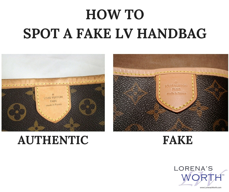 8492554126f Do you know how to spot a fake vs. real Louis Vuitton hand bag  Can you tell  the differences in the picture  Find out more in our blog!