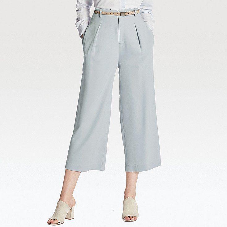 fd17a0ce31 Women drape wide leg ankle length pants | Fashion | Ankle length ...