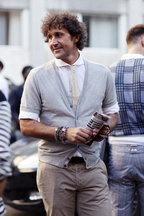 On the Street….Short-Sleeve Cardigans, Florence & Milan « The Sartorialist