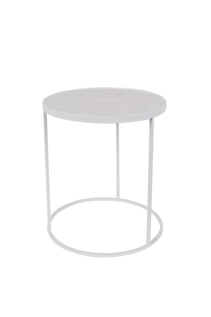 Witte Side Table.Glazed Side Table Zuiver Tables Bijzettafels Witte