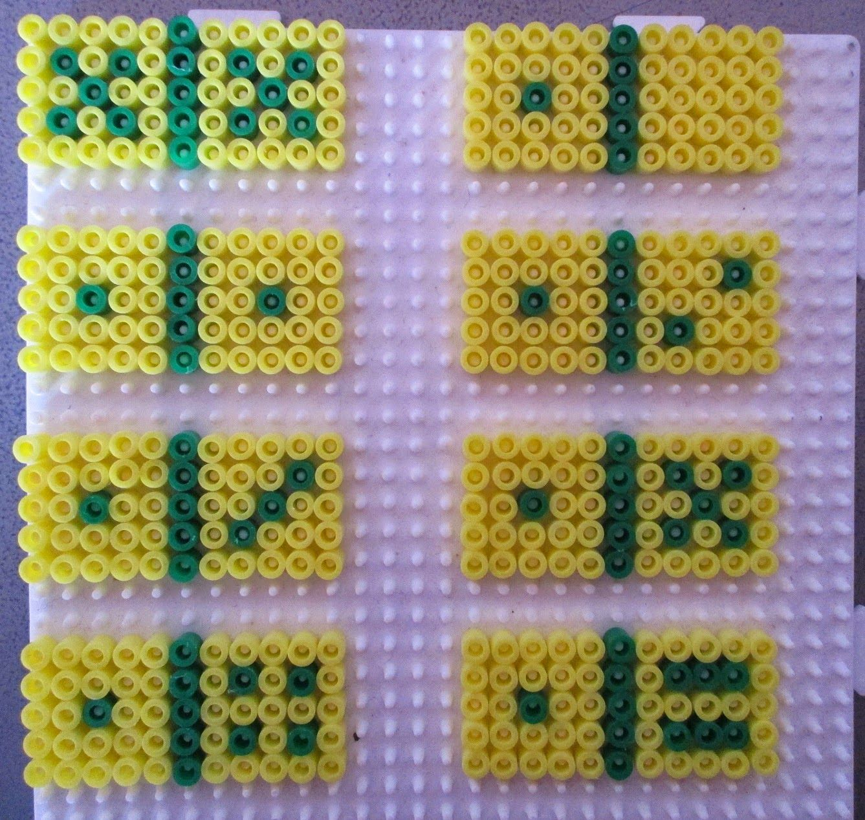 pixel art en perle hama: jeux de société
