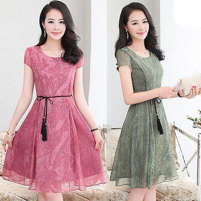 6f68a42edf Nuevo Verano Moda Coreana Vestido de impresión de gasa temperamento Shitsuke