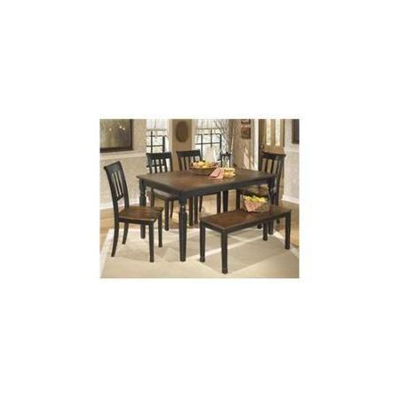 Ashley D58025 Owingsville Rectangular Dining Room Table  Black Cool Black And Brown Dining Room Sets Inspiration