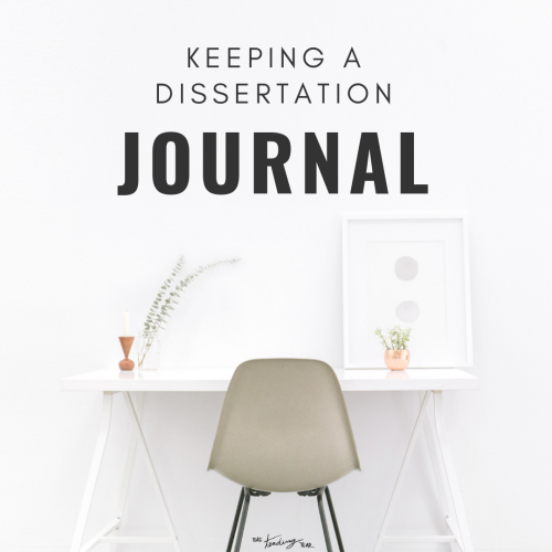 1 38 Keeping A Dissertation Journal The Tending Year Writing Phd Student Of