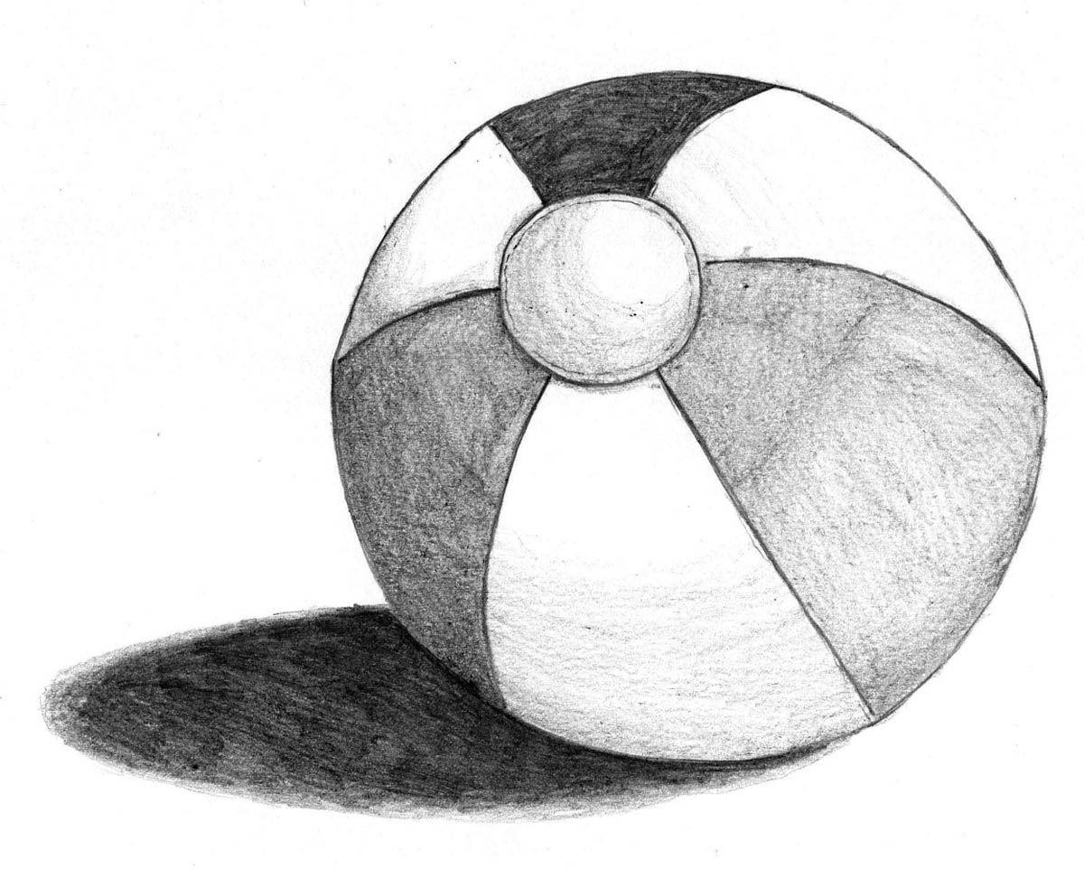 A beach ball sketch! | How to Sketch | Pinterest | Beach ...