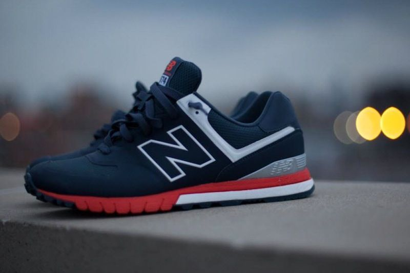navy blue and red new balance