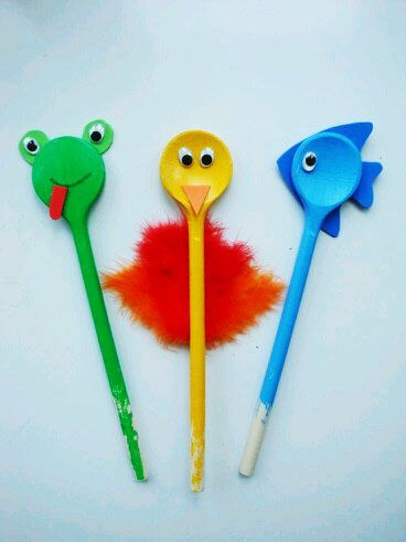 Cute Wooden Spoon Animals Wooden Spoon Uses Pinterest