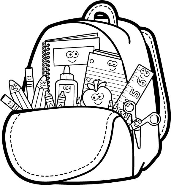 School Clip Art Black And White School Coloring Pages School