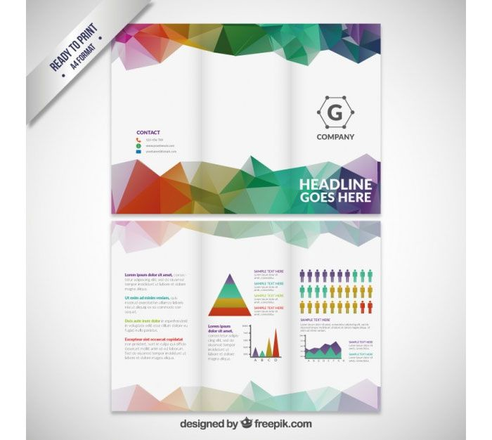 Free Trifold Brochure Templates To Download ดดด - Tri fold brochure psd template