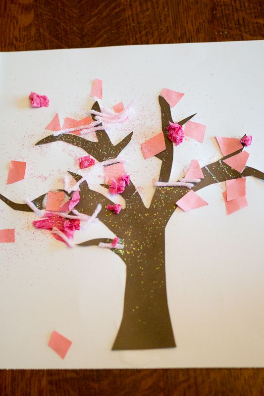 Sparkly Spring Tree Craft For Toddlers To Make A Glimpse Of Hands