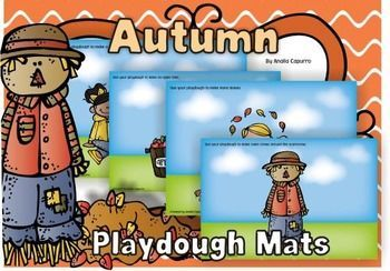 Fall using these Playdough Mats. This is a set of printable playdough ...