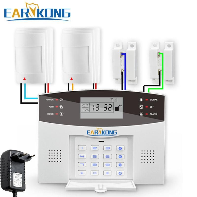 433MHz Wireless GSM Alarm System English Russian Spanish French ...