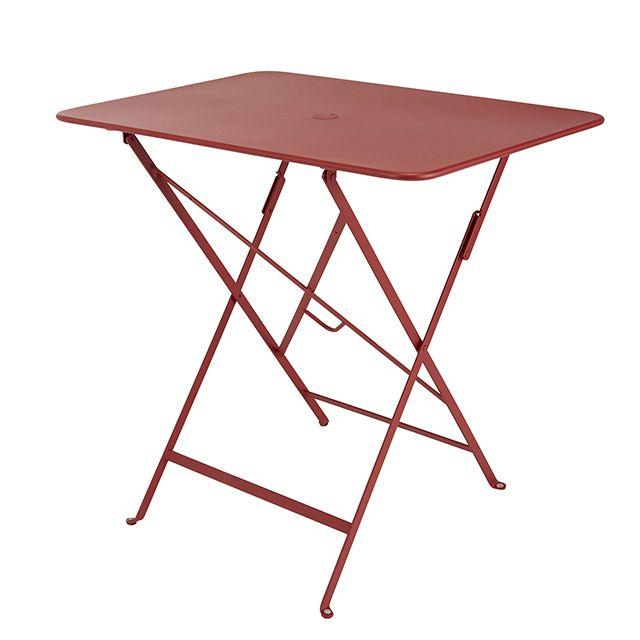 Table de jardin Bistro 77 x 57 cm rouge piment - CASTORAMA ...