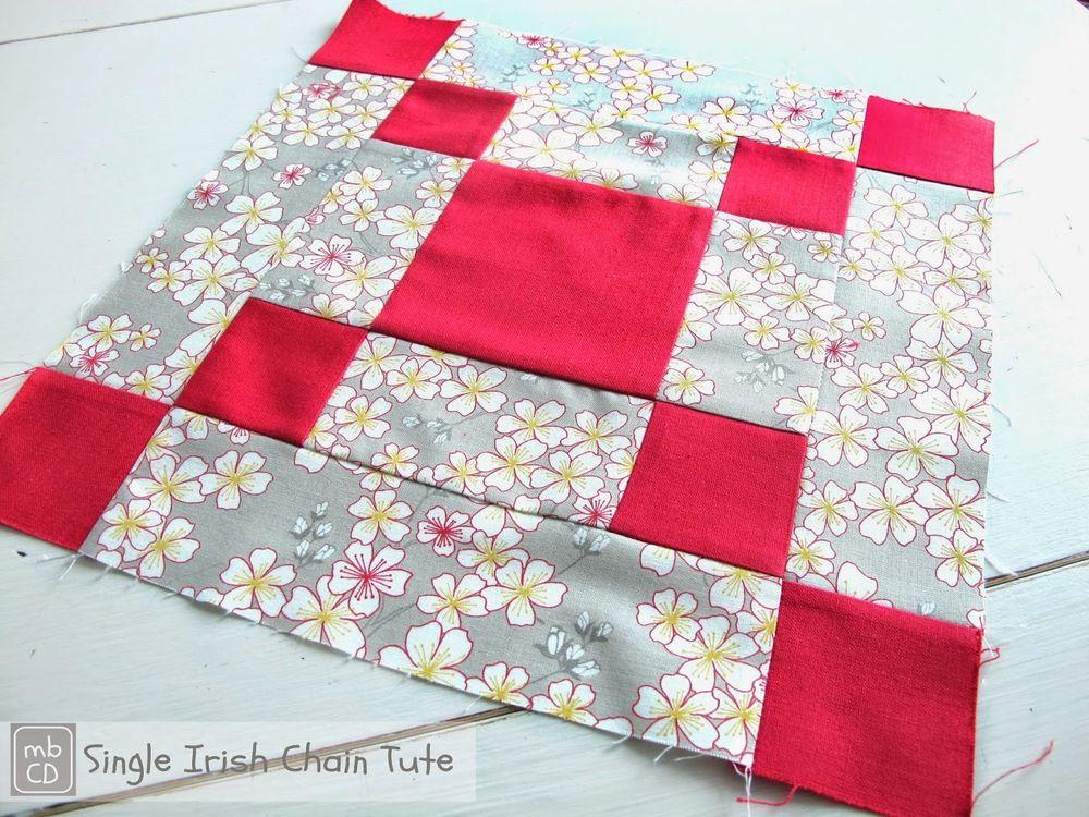 Bold and Beautiful Irish Chain Quilt Block | Irish chain quilt ... : big and bold quilt pattern - Adamdwight.com