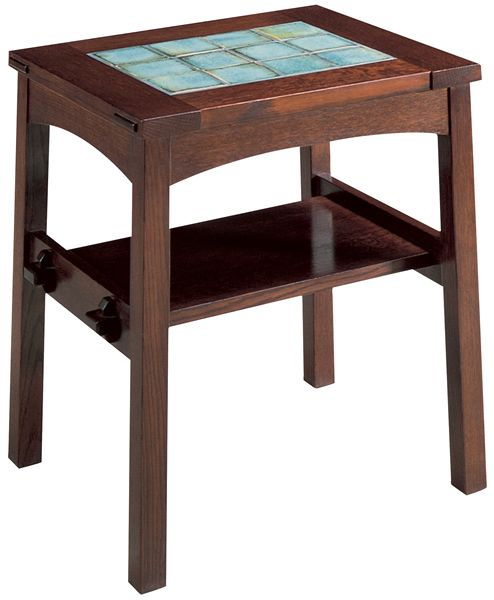 Explore Craftsman Furniture Planore Tile Top End Table