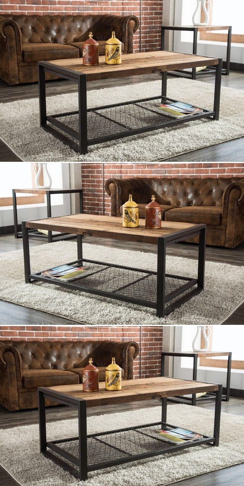 Wood And Metal Sofa Table 2019 Con Imagenes Diseno Industrial