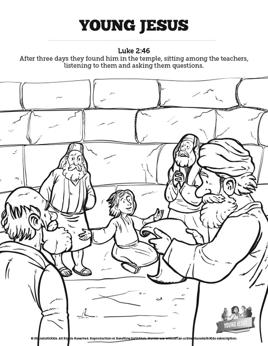 Jesus As A Child Sunday School Coloring Pages: Your kids