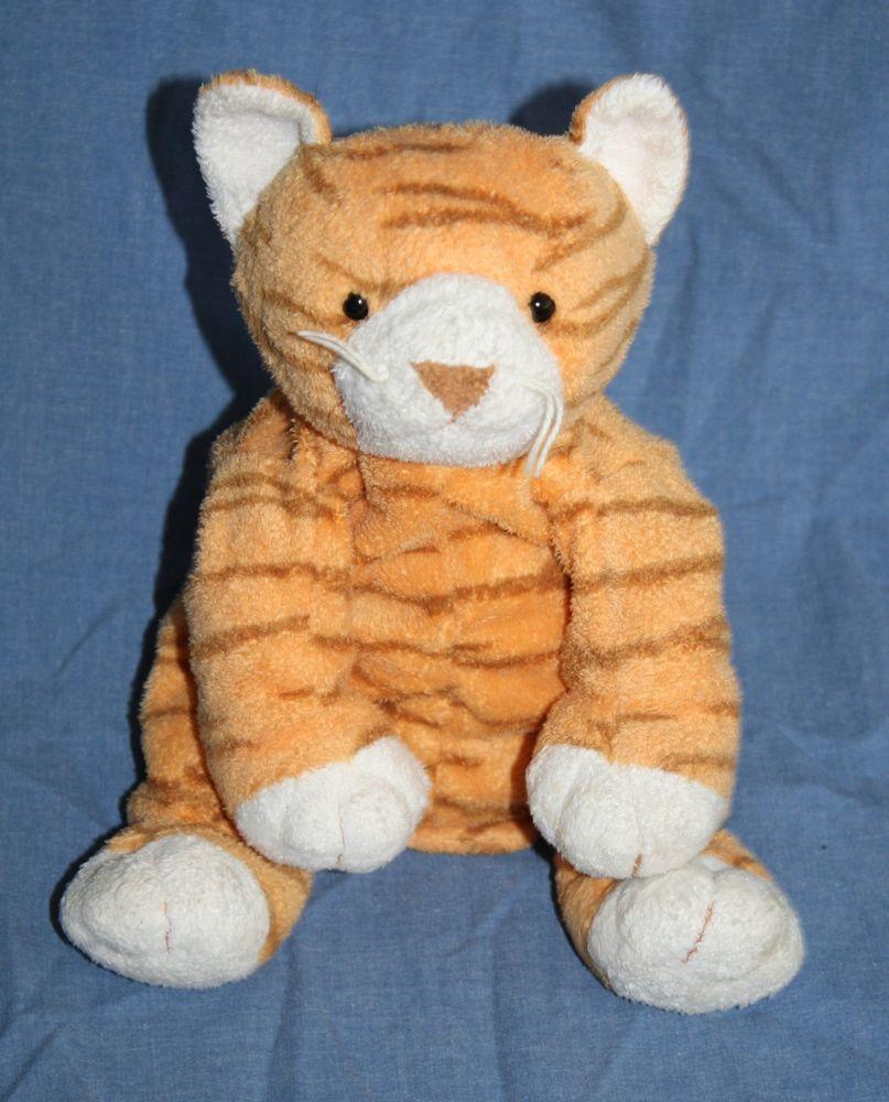 Ty Purrz Orange Kitty Cat Pluffies Plush Stuffed Animal