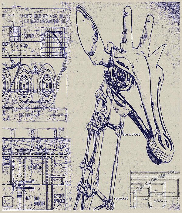 Robot giraffe blueprint we can build our own critter robot giraffe blueprint we can build our own malvernweather Choice Image