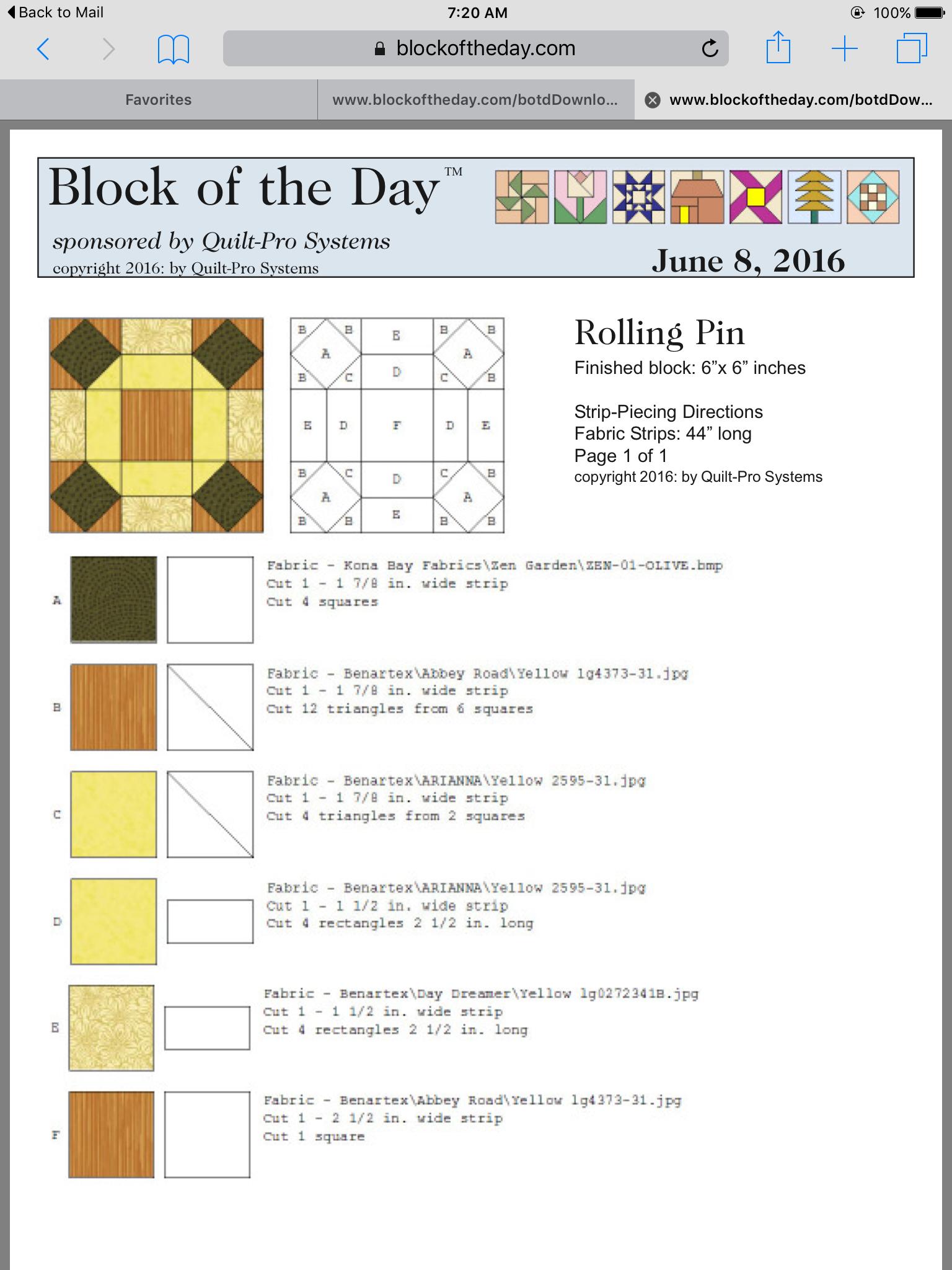 Rolling Pin Block