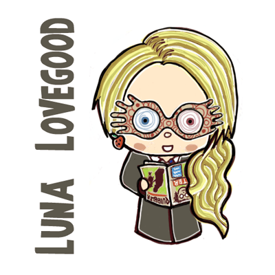 How To Draw Cute Chibi Luna Lovegood From Harry Potter In Simple