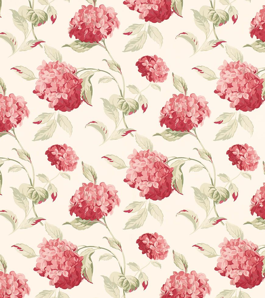 Hydrangea Cranberry From The Laura Ashley Wallpaper