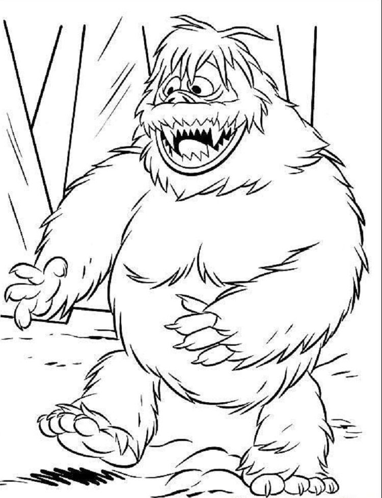Abominable Snowman Coloring Pages Monster Coloring Pages Rudolph Coloring Pages Snowman Coloring Pages
