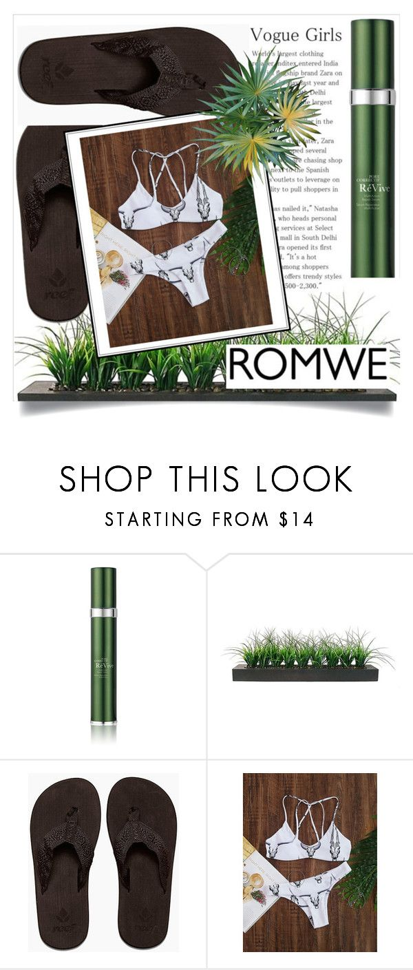 """""""ROMWE"""" by amilasahbazovic ❤ liked on Polyvore featuring RéVive and Vintage"""