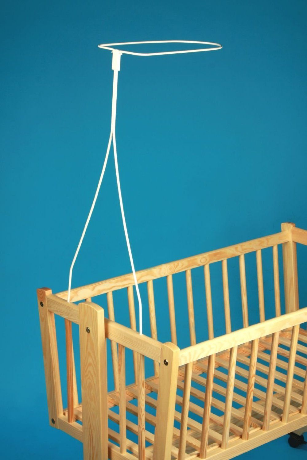 CANOPY drape for baby swinging crib//wicker basket//craddle+FLOOR STANDING POLE