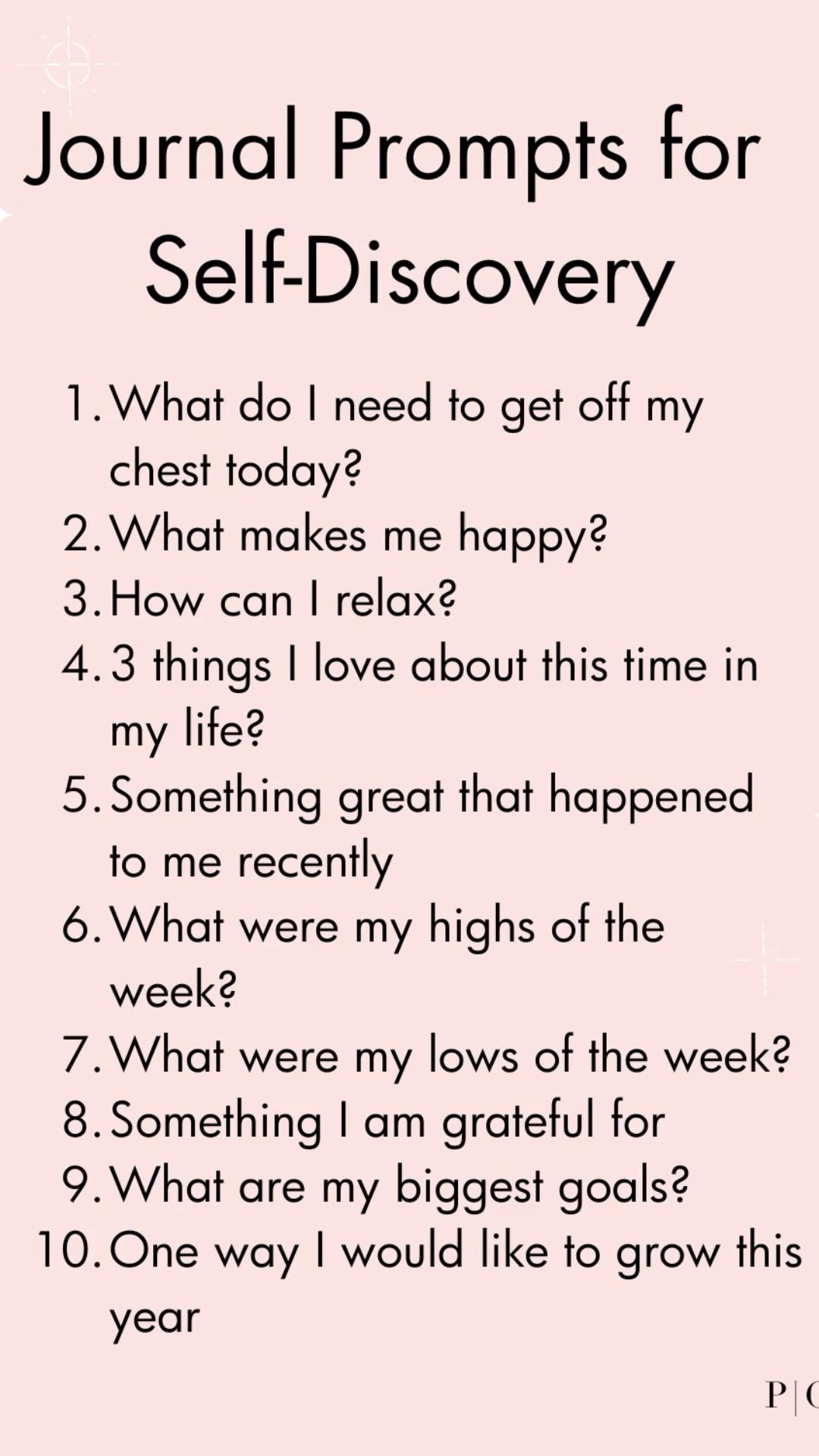 Journal prompts for self-discovery! #gratitudejournal #journal #prompts