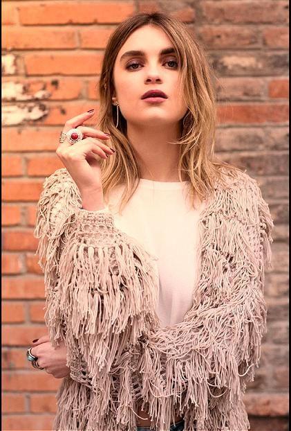 chaqueta bershka con flecos moda primavera verano 2015