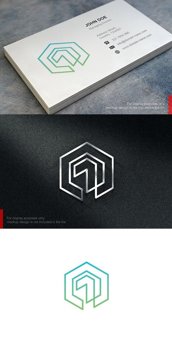 One Cube Logo and Business Card   Logo templates, Business card logo ...