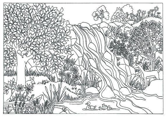 This Art Coloring Page Is First Created With Pencil And Then Inked In With Pitt Artists Pens Coloring Pages Nature Coloring Pages For Grown Ups Coloring Pages