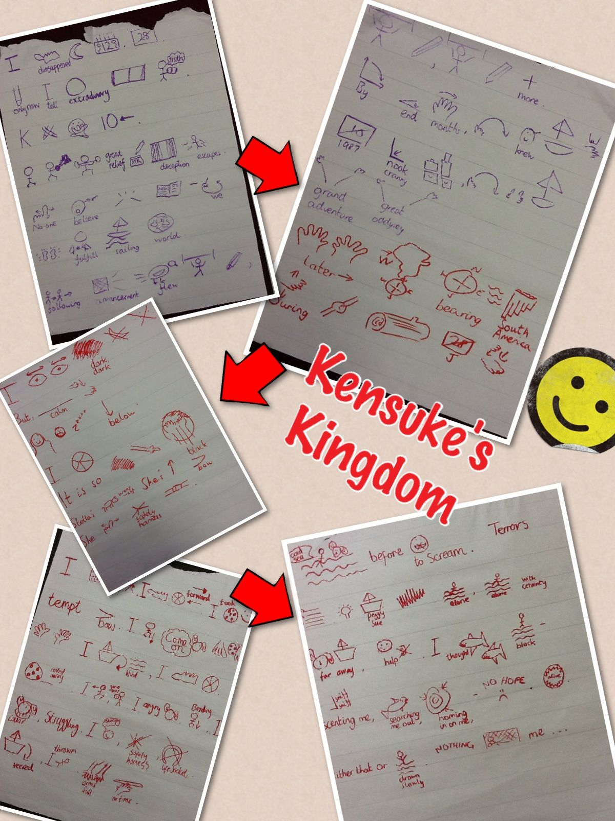 Kensuke's Kingdom Story Map