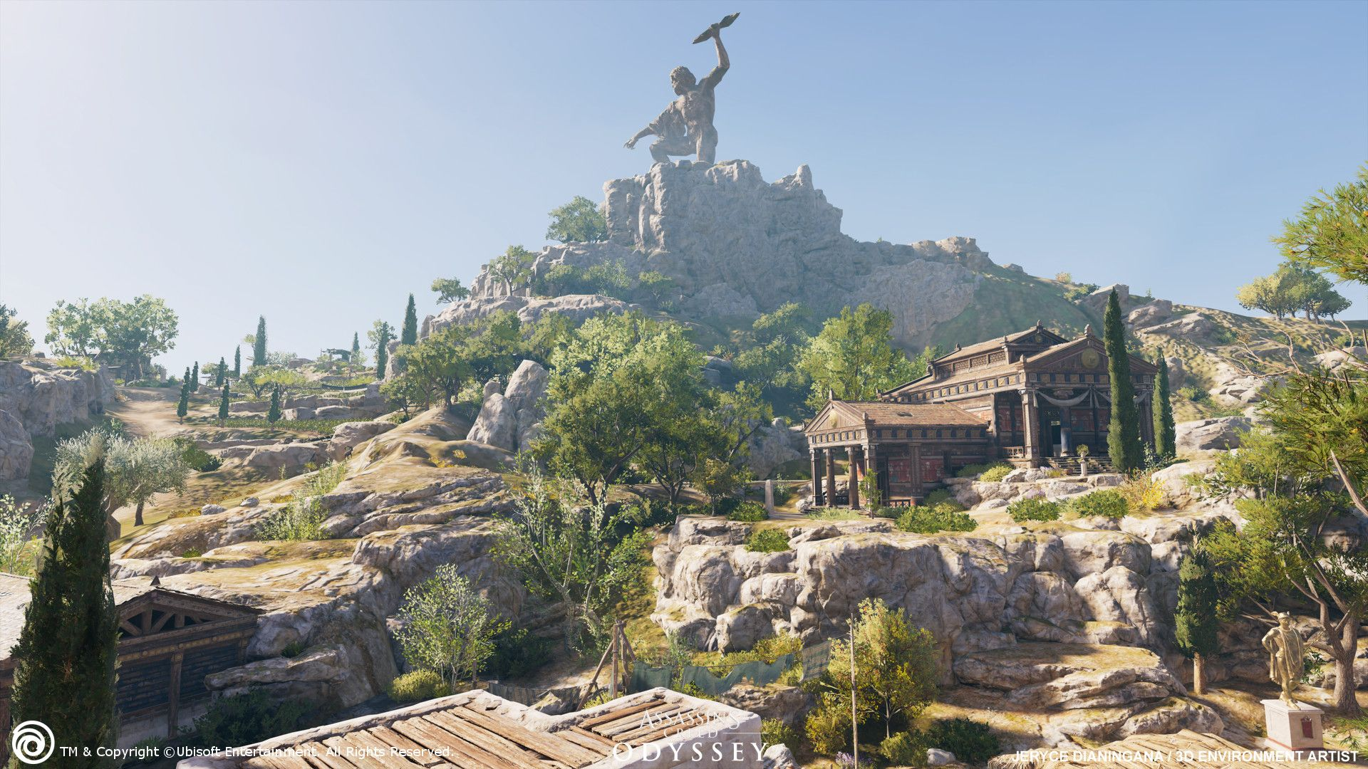 The Village Of Sami The Statue Of Zeus Chthonios Sculpted Into The