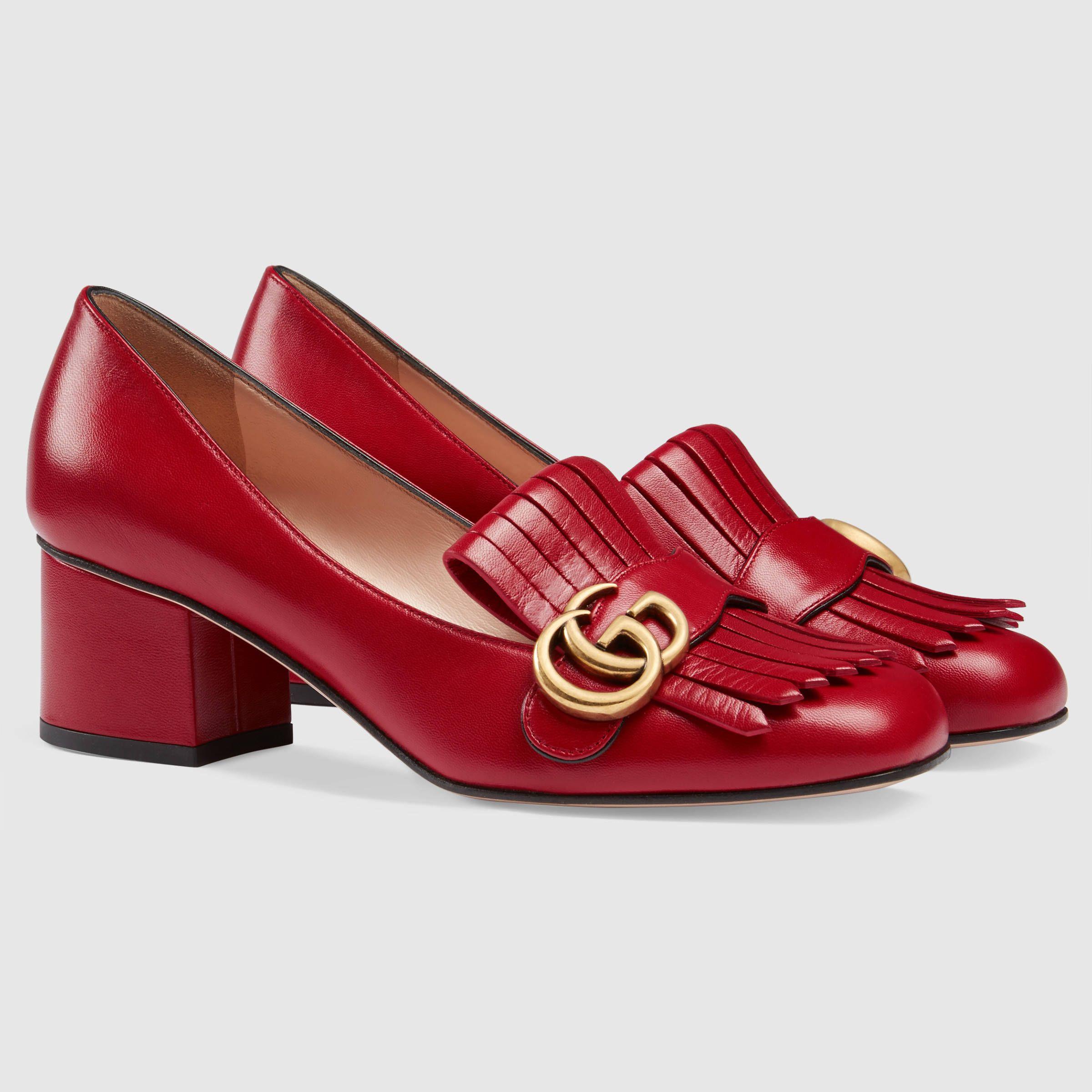 Leather mid-heel pump - Gucci Women's Pumps 408208C9D006433