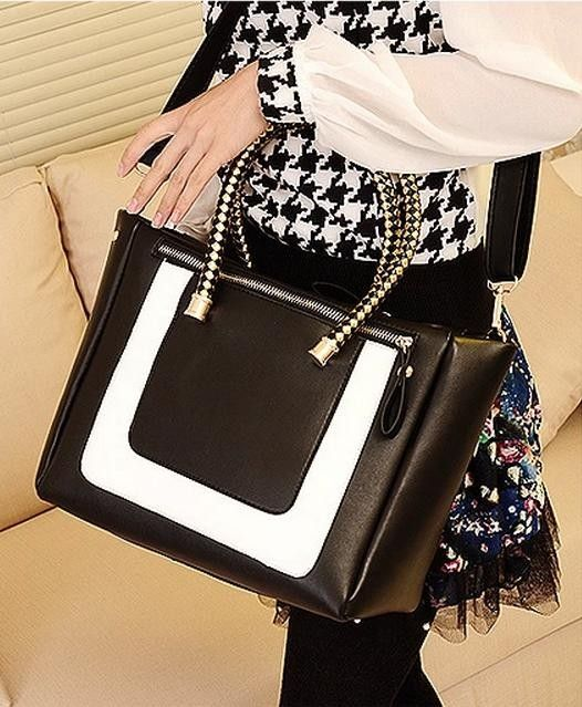 $11.72  Europe and American Fashion Black and White Color Scheme Lady Tide Single Diagonal Shoulder Bag http://www.eozy.com/europe-and-american-fashion-black-and-white-color-scheme-lady-tide-single-diagonal-shoulder-bag.html