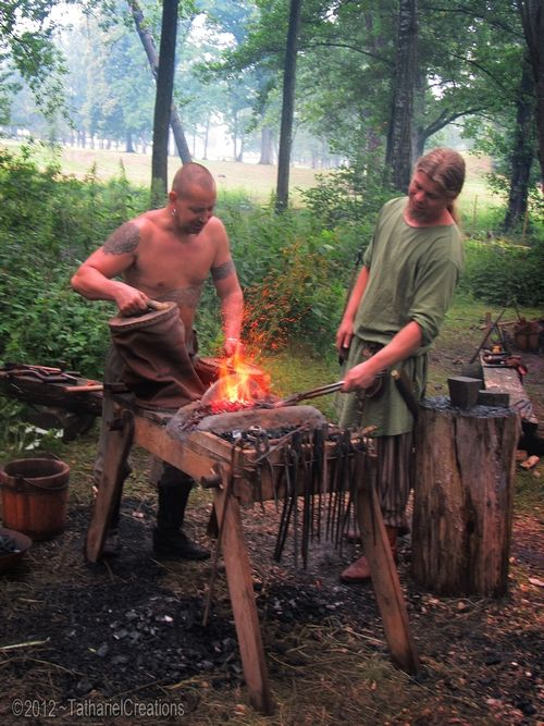 Blacksmithing Viking style | Blacksmithing | Pinterest